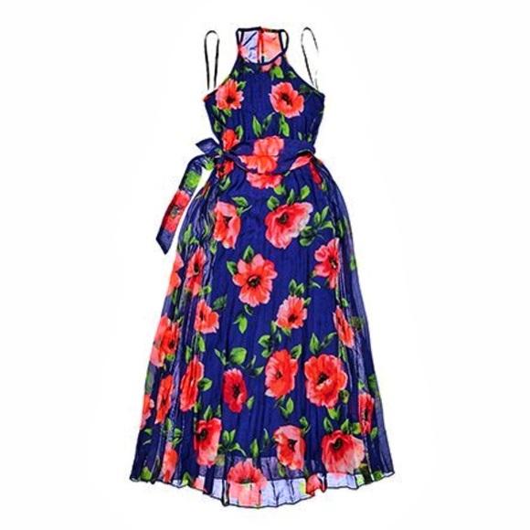 0a620414c35e B Darlin Dresses | Royal Blue And Coral Maxi Dress Size 56 | Poshmark